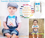First Birthday Outfit Boy - Grey Blue Orange Lime Red Birthday - First Birthday Clothes - Birthday Shirt - Boys Birthday Outfit - Cake Smash
