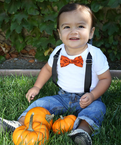 Baby Boy Easter Outfit with Bunny Tie and Mint Suspenders