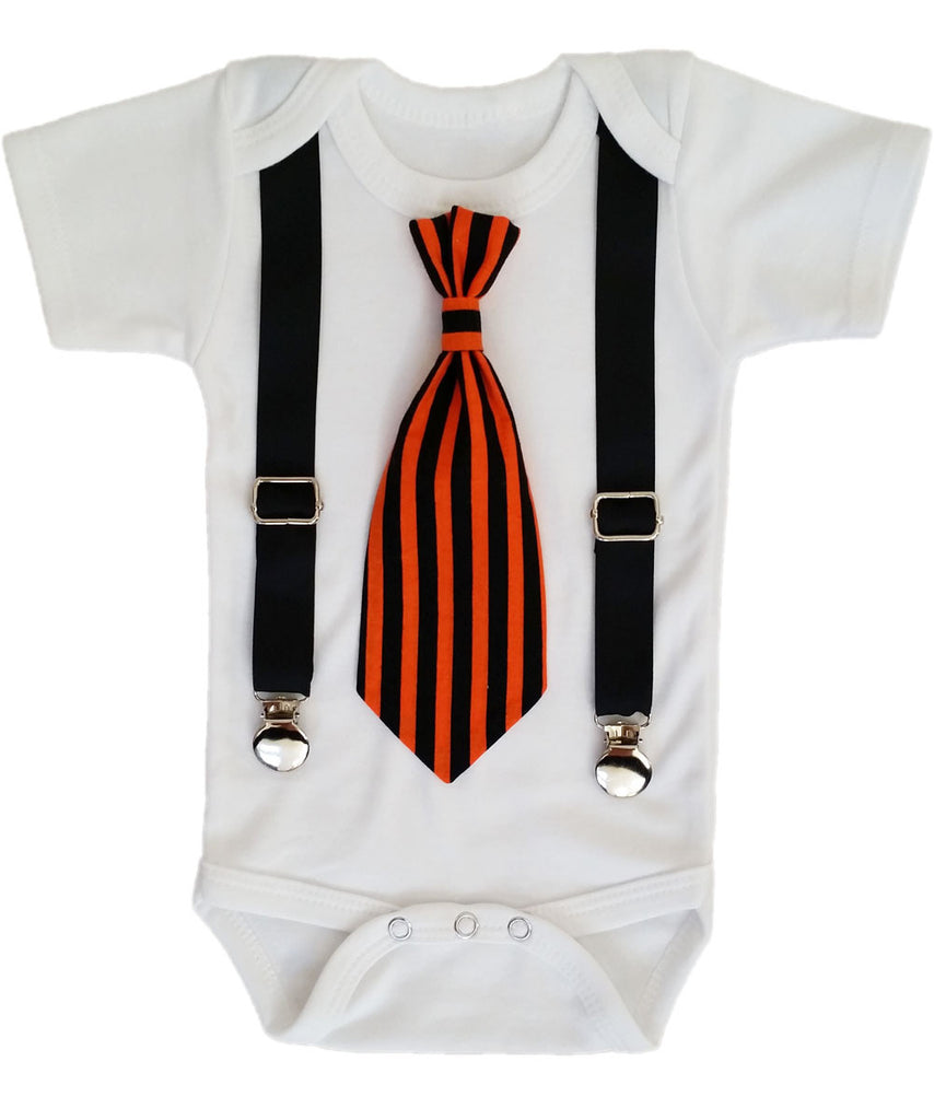 Halloween Outfit Baby Boy - Halloween Party - First Halloween - Pumpkins - Halloween Tie - Newborn Boy - Toddler - Halloween Shirt - Costume
