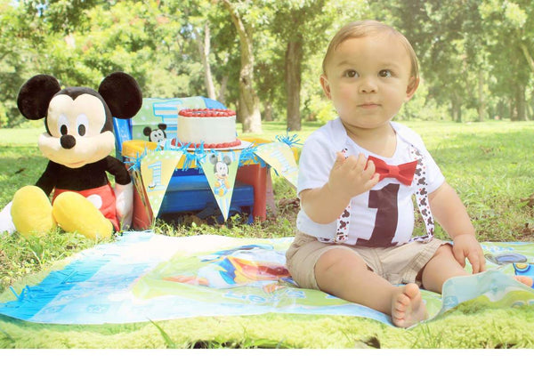 Baby Boy First Birthday Mickey Mouse Outfit Mickey Theme Party