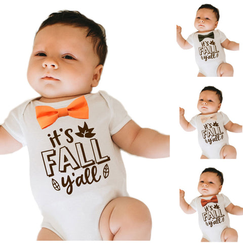 Thanksgiving Outfit for Baby Boy Gobble Till You Wobble Vest Bow Tie