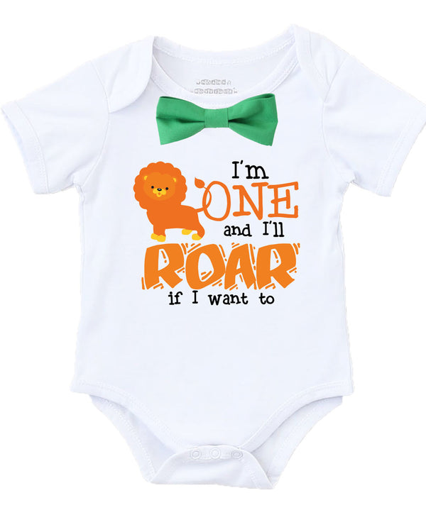 jungle first birthday shirt boy outfit lion monkey zoo safari onesie cake smash session bow tie suspenders