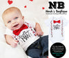 Cute Baby Boy Valentines Day Outfit with Mustache Heart Suspenders