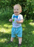 monster first birthday shirt baby boy blue bow tie funny cute cake smash onesie