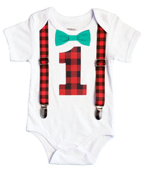 lumberjack first birthday party outfit baby boy
