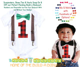 Lumberjack First Birthday Party Outfit - Red and Black Buffalo Plaid - Lumberjack Theme - Camping Theme - Photo Props - Cake Smash - Rustic
