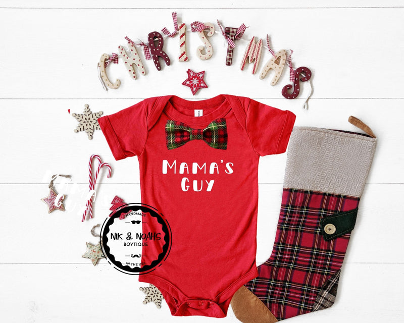 matching mom and son shirts mamas guy and mama shirt christmas cute matching family shirts baby onesie toddler mamas guy onesie with bow tie christmas outfit