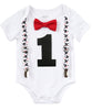 mickey mouse first birthday outfit with red bow tie and suspenders 1st birthday