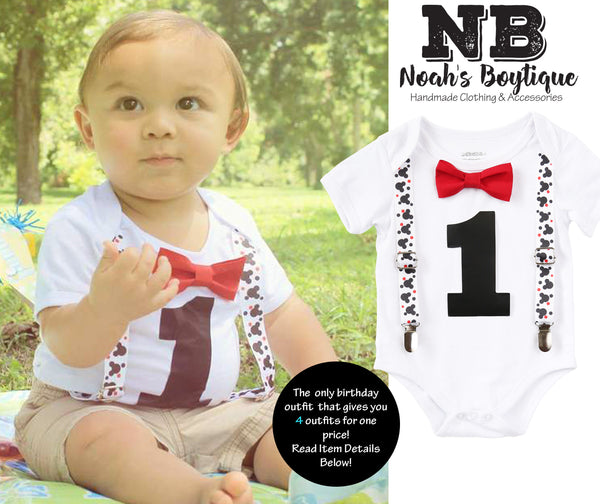mickey mouse first birthday outfit baby boy - boys first birthday outfit - 1st birthday - mickey theme mickey onesie first birthday boy