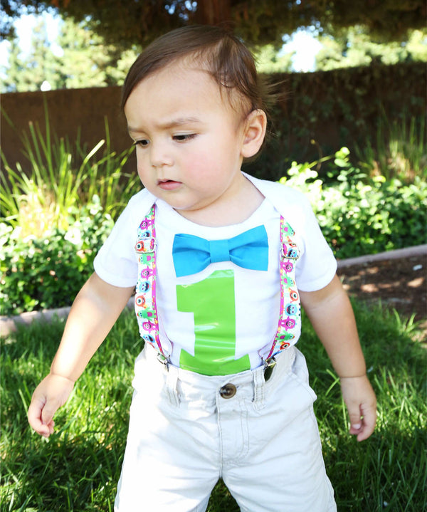 monster theme first birthday party outfit noah's boytique