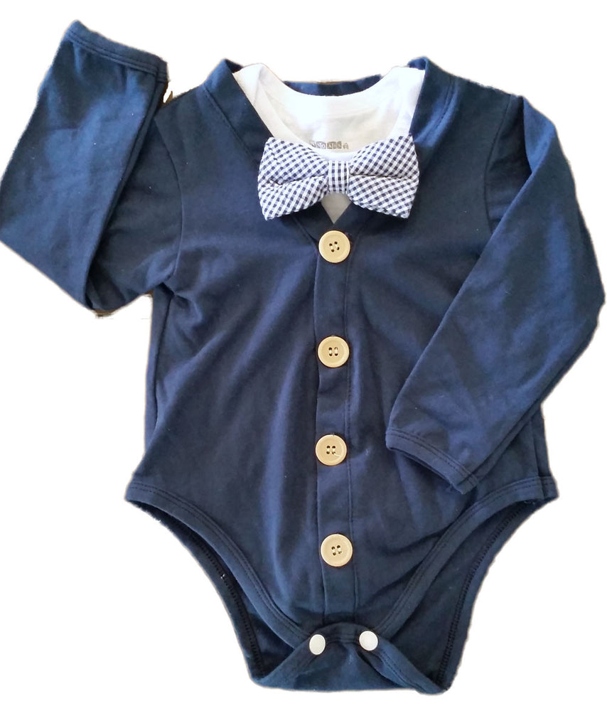 Baby boy easter shirt navy cardigan with blue and white for Baby shirt and bow tie