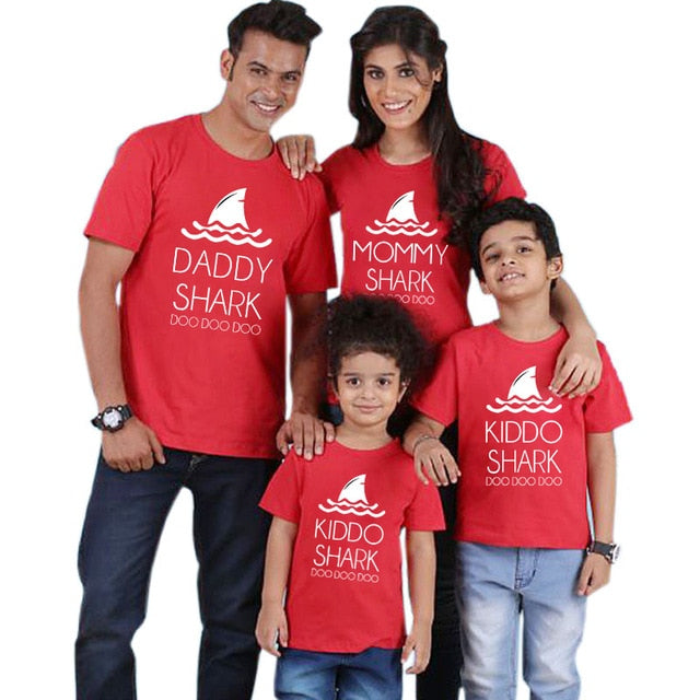 Baby Shark Family matching outfits father Mother of Dragons Babysaurus Whole Family Matching Shirts Funny