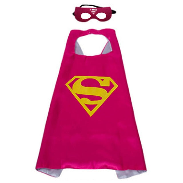 Boys Superhero Capes and Masks Children's Girls Hero Cloak Cosplay Costume For Kids Halloween Party superman Spiderman Iron Man Transformers Star Wars