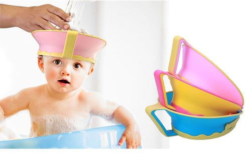 baby bath visor to keep shampoo out of eyes bath hat baby shower gift mom must have