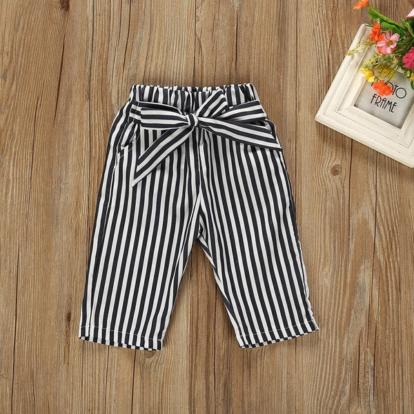 Autumn Baby Girl Boy Clothes Newborn Sets Outfit Pink Long Short Romper Bodysuit Black Stripe 2 Piece Set