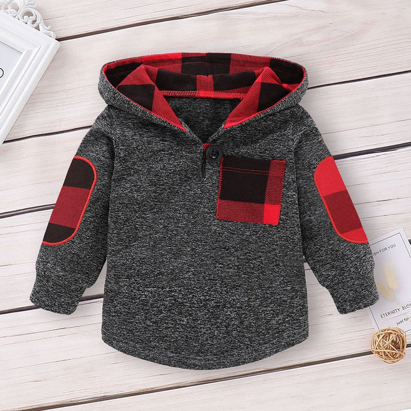 Children Clothing Autumn Winter Baby Boy Clothes Outfit Kids Clothes Tracksuit Suit For Toddler Boys Clothing Sets Buffalo Plaid