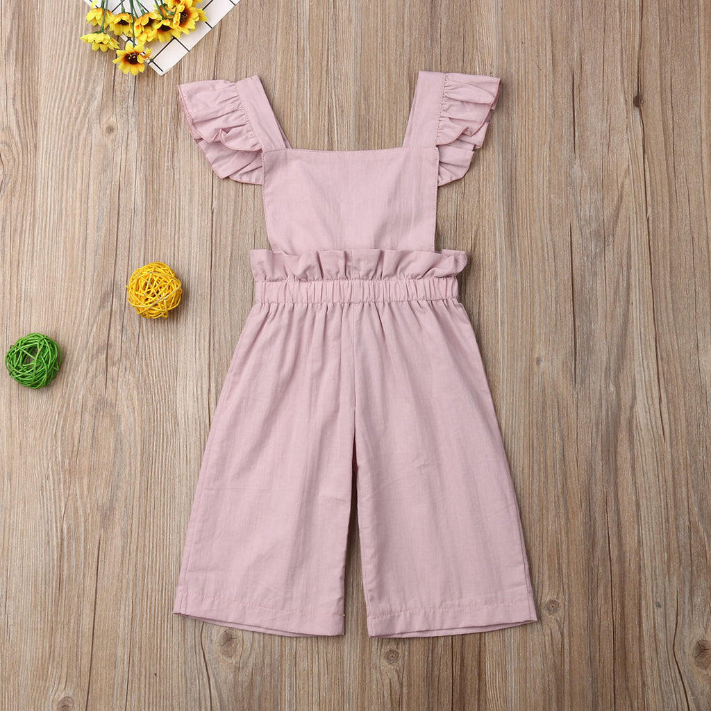 Toddler Infant Baby Kids Girls Ruffles Embroidery Floral Romper Bodysuit Outfits