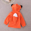 Fox Or Raccoon Fleece Hoodie with Tail Unisex
