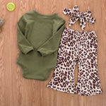 Baby Girl Country Music Outfit Leopard Flare Pants Willie Cash Hank Merle Onesie Set