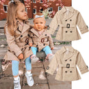 Toddler Girls Solid Trench Coat Autumn Jacket Windbreaker Coat
