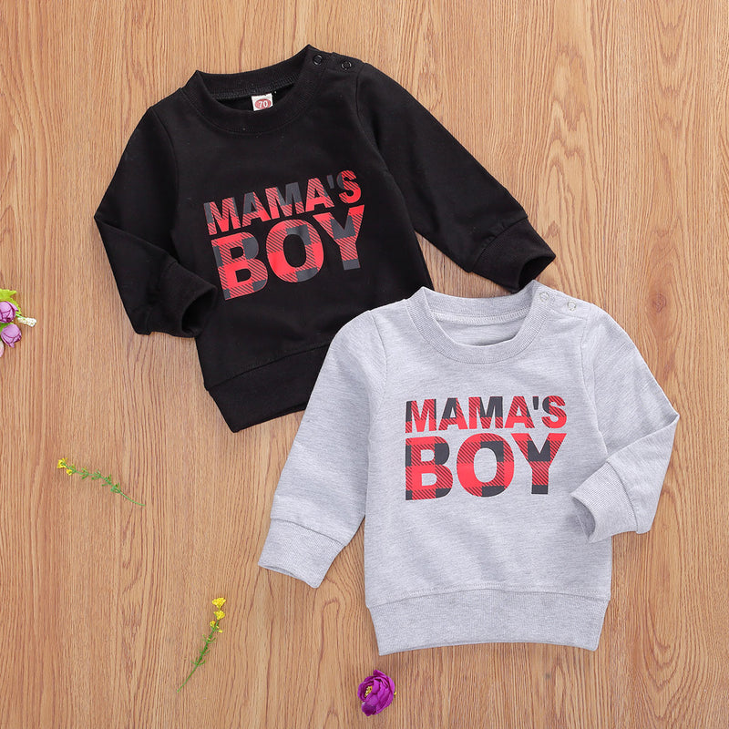 Mama's Boy Buffalo Plaid Sweatshirt