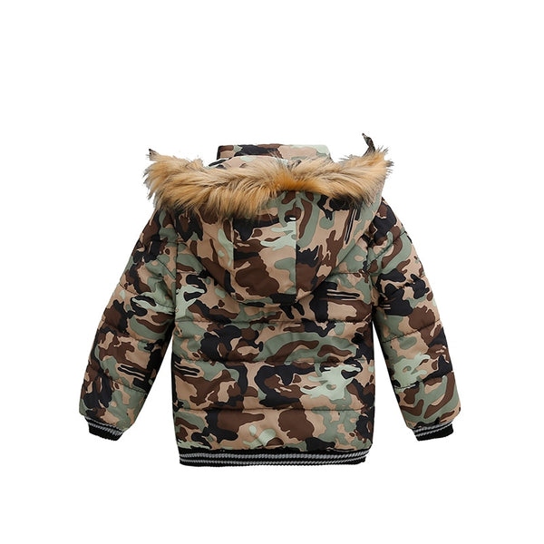 Kids Winter Jacket Parka Thick Warm Coat with Fur Hood Boys and Girls Coats