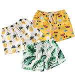 Toddler Boy Printed Shorts Beach Swim Trunks Bottoms Palm Trees Pineapples Sunglasses