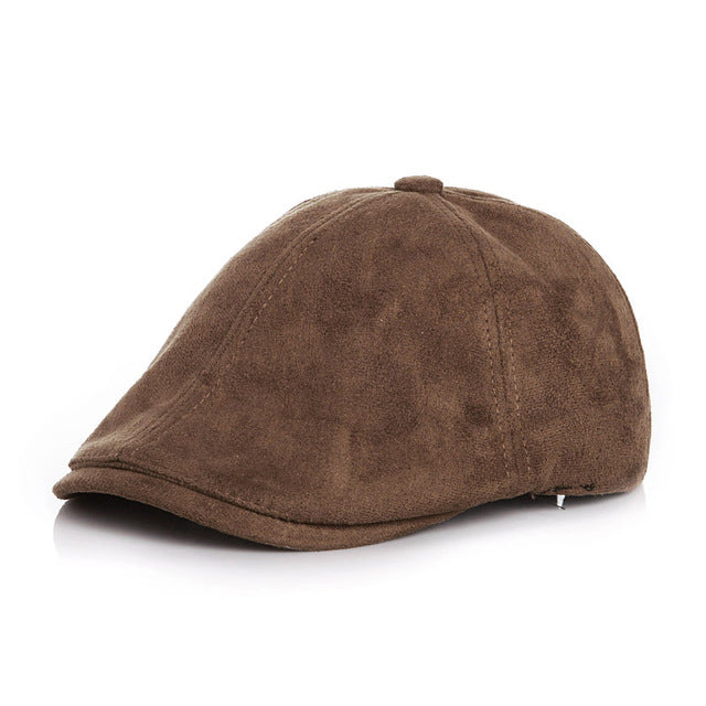 Toddler Boy Suede Newsboy Beret Hats