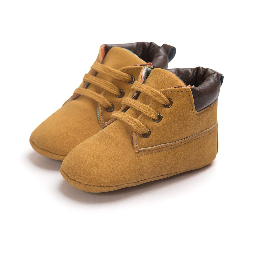 Baby Boy Suede Leather  Soft Soled Boots Shoes
