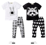 Baby Boy Shirt and Legging Pants Set with Cute Graphic Tees 6 Styles