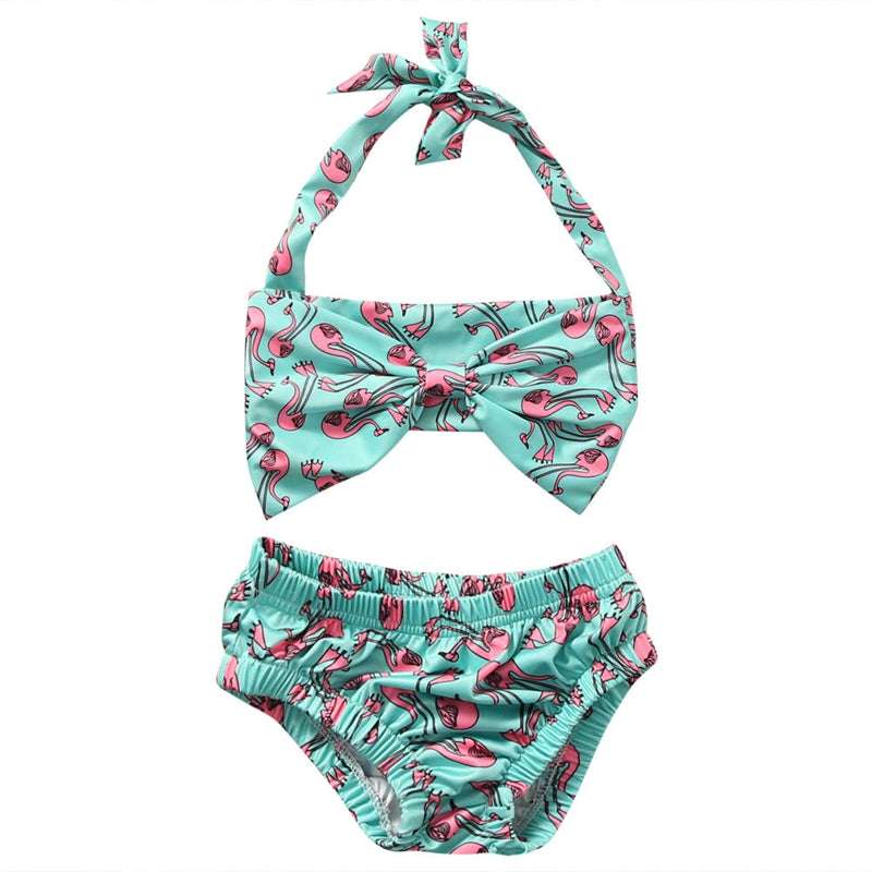 Baby Toddler Girl Flamingo Bathing Suit Swimsuit Bikini