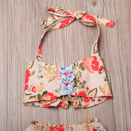 Bikini Baby Floral Toddler Baby Girls Halter Bikini set Swimwear Swimsuit Bathing Suit Two-Pieces