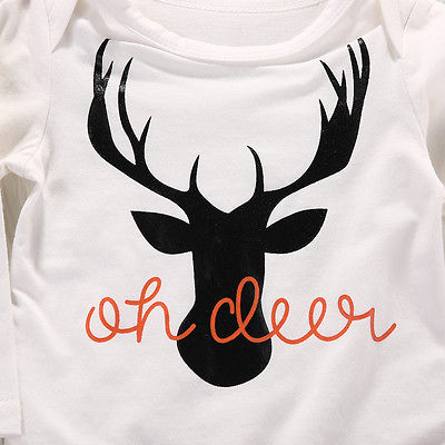 OH DEER BABY BOY COMING HOME OUTFIT 3 PIECE SET HUNTING CAMO