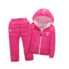 Snow Suits for Kids Waterproof Down Jacket and Pants Unisex