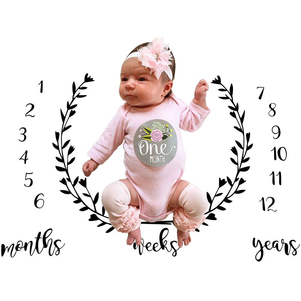 Milestone Newborn Baby Girl Boy Blanket Costume Photo Photography Prop Outfits