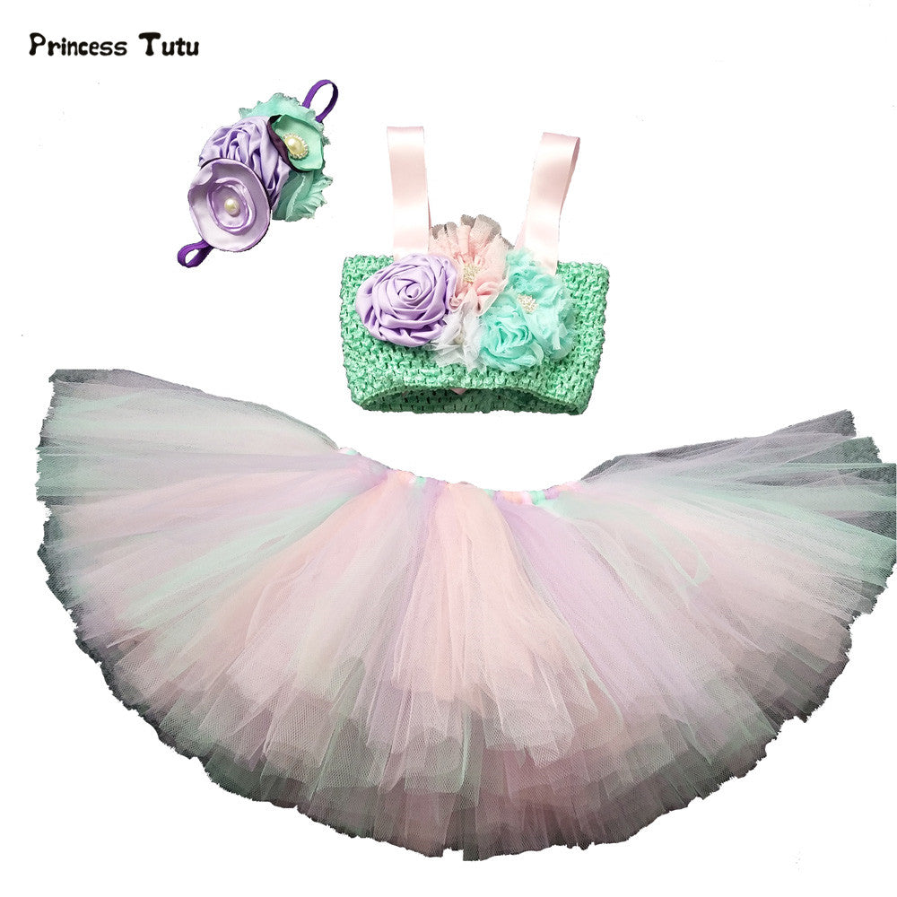 Baby Toddler Girl Tutu Birthday Set Cake Smash Dress Up Picture Outfit