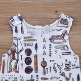 Vintage Toy Print Baby Boy Romper for Fall and Winter