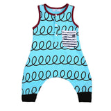 Baby Boy Romper Jumpsuit Hipster Outfit Aqua Red Black
