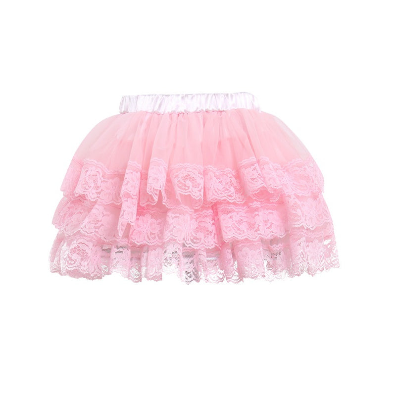 Baby Girl Tutu Birthday Skirt Pink Aqua Ivory