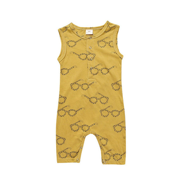 Baby Boy Clothes Fashion Plaid Print Sleeveless Baby Boy Jumpsuits Summer Baby Boys Rompers