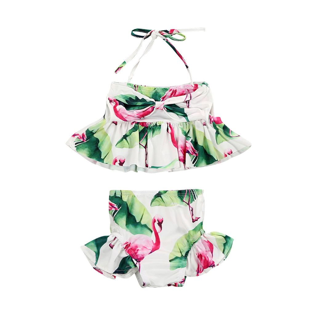 d2839682b6 Kid Baby Girl Swimsuit Bikini Bathing Suit Flamingo Floral Tankini Bikini  Set Swimwear Swimsuit Bathing Suit