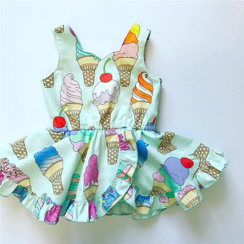 Baby Girls Bow Stripe Jumpsuit Pretty Ruffle Sleeveless Romper Summer Cotton Clothes Outfits 0-2T