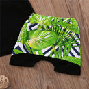 Summer Outfit for Baby Boy Palm Trees Tropical Harem Shorts