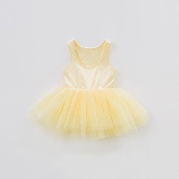 Baby Girl Tutu Dress Tank with Tutu bottom Dance Dress Summer Children Girl Clothing 0-5Y Toddler Girl Tutu Dresses For Birthday Party Kids Dresses For Girl