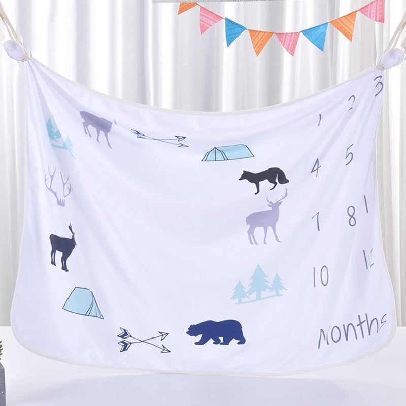 rustic outdoors mountains moose monthly blanket baby boy deer camping baby shower gift boy baby boy photo prop blanket baby boy milestone blanket adventurer