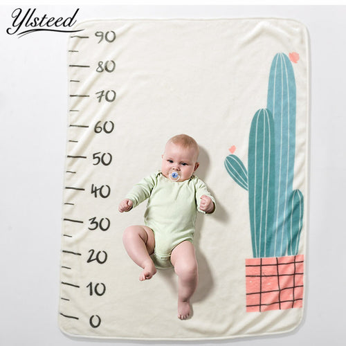 Infant Photo Prop Super Soft Flannel Baby Milestone Blanket Baby Shower Gift 5 design options