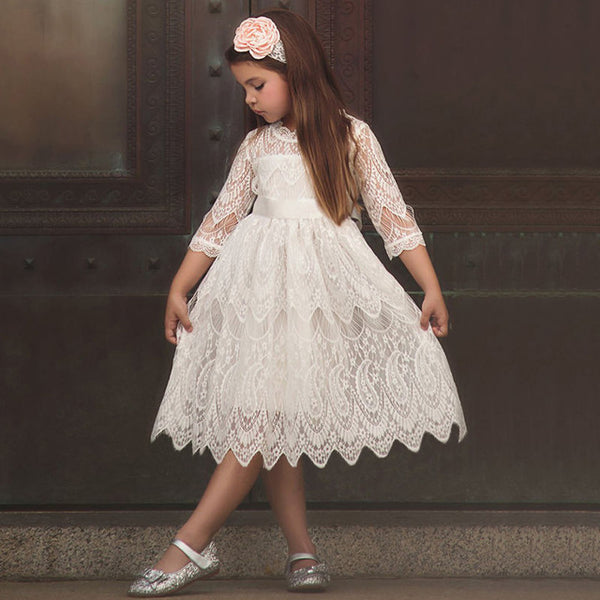 white toddler dress school performance santa pictures lace girls dresses for winter girls dresses for fall girls dresses for christmas fancy embroidered burgundy flowers floral