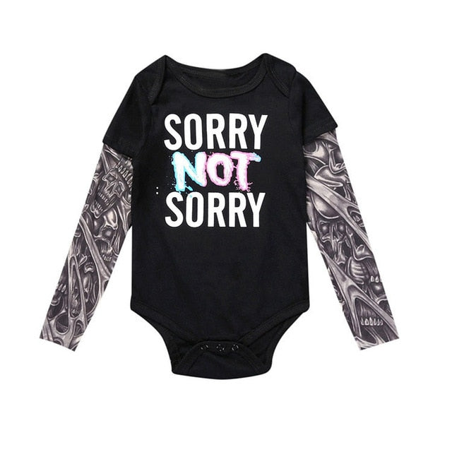 punk rock baby outfit punk rock baby onesie hipster baby outfit gifts for parents with tattoos funny baby onesies baby tattoo sleeves baby shower gift for tattoo parents baby onesie with tattoo sleeves baby boy tattoo sleeve outfit sorry not sorry