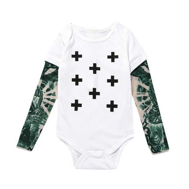 punk rock baby outfit punk rock baby onesie hipster baby outfit gifts for parents with tattoos funny baby onesies baby tattoo sleeves baby shower gift for tattoo parents baby onesie with tattoo sleeves baby boy tattoo sleeve outfit skateboard