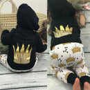 Baby Boy King of the Wild Things Outfit Crown Letter Tops Hoodie Pants Outfits 2Pcs Set Clothes Ropa de Bebe